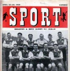Coleccionismo deportivo: SPORT (BRITÁNICA) 22-04-1949. Lote 182449635
