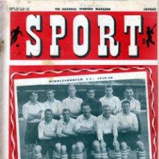 Coleccionismo deportivo: SPORT (BRITÁNICA) 24-12-1949. Lote 182449660