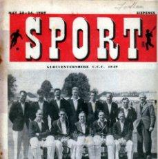 Coleccionismo deportivo: SPORT (BRITÁNICA) 20-05-1949. Lote 182449675