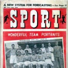 Coleccionismo deportivo: SPORT (BRITÁNICA) 23-09-1949. Lote 182449700