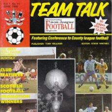 Coleccionismo deportivo: TEAM TALK JUNIO 1992. Lote 182449780