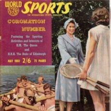 Coleccionismo deportivo: WORLD SPORTS MAYO 1953. Lote 182450256
