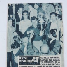 Coleccionismo deportivo: ANTIGUA REVISTA DEL REAL MADRID, FUTBOL, JUNIO 1958, Nº 95, CAMPEON DE III COPA DE EUROPA, MIDE 31 X. Lote 182559995