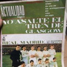 Coleccionismo deportivo: REVISTA LA ACTUALIDAD ESPAÑOLA REAL MADRID DI STEFANO PUSKAS OLA YE-YE . Lote 182729677