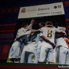 Coleccionismo deportivo: GRADA BLANCA REAL MADRID C.D. LEGANÉS. 30-10-19 JORNADA 11. PÓSTER RODRYGO. MUY BUEN ESTADO.. Lote 182744665
