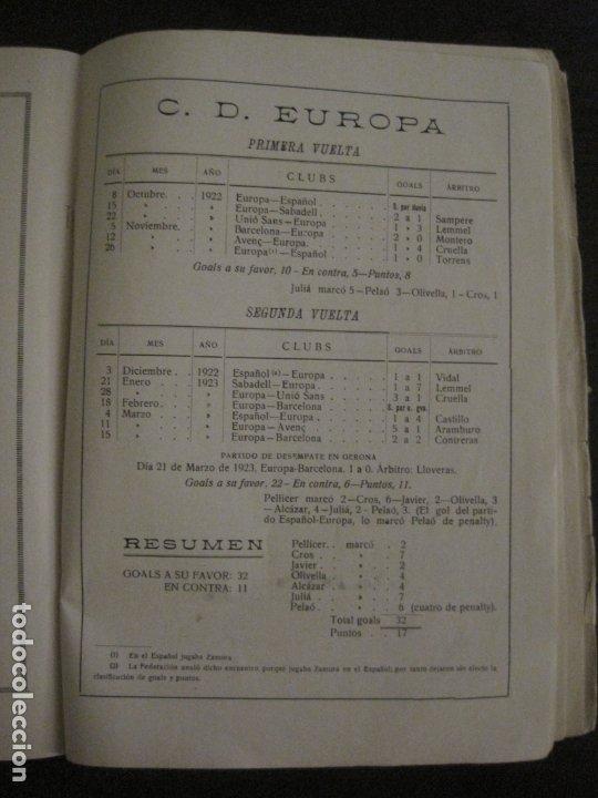 Coleccionismo deportivo: HISTORIA DEL CAMPEONATO DE FUTBOL DE CATALUÑA 1922 1923-CON FOTOGRAFIAS-VER FOTOS-(V-18.057) - Foto 17 - 182871472