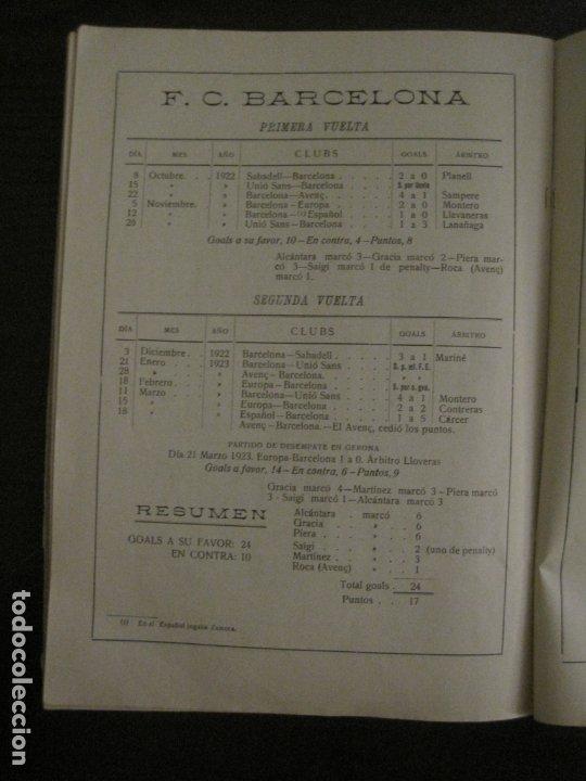 Coleccionismo deportivo: HISTORIA DEL CAMPEONATO DE FUTBOL DE CATALUÑA 1922 1923-CON FOTOGRAFIAS-VER FOTOS-(V-18.057) - Foto 18 - 182871472