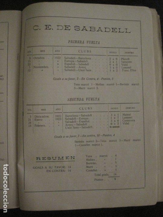 Coleccionismo deportivo: HISTORIA DEL CAMPEONATO DE FUTBOL DE CATALUÑA 1922 1923-CON FOTOGRAFIAS-VER FOTOS-(V-18.057) - Foto 19 - 182871472