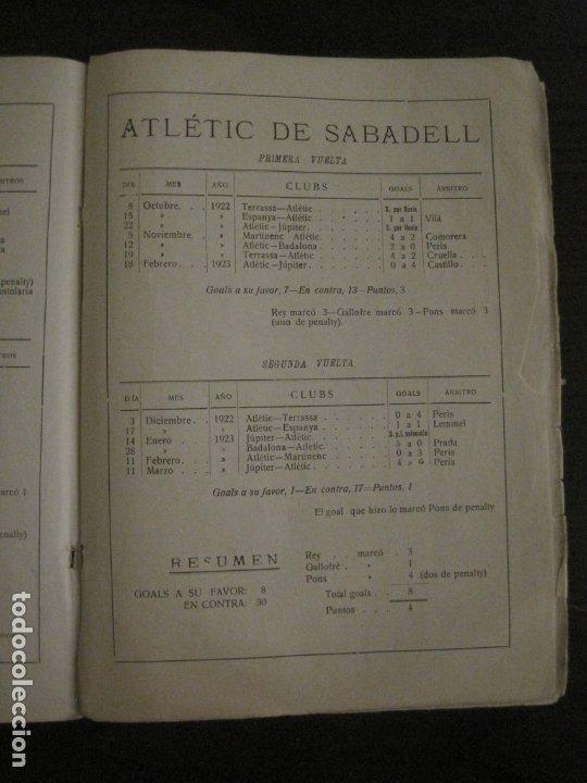 Coleccionismo deportivo: HISTORIA DEL CAMPEONATO DE FUTBOL DE CATALUÑA 1922 1923-CON FOTOGRAFIAS-VER FOTOS-(V-18.057) - Foto 25 - 182871472