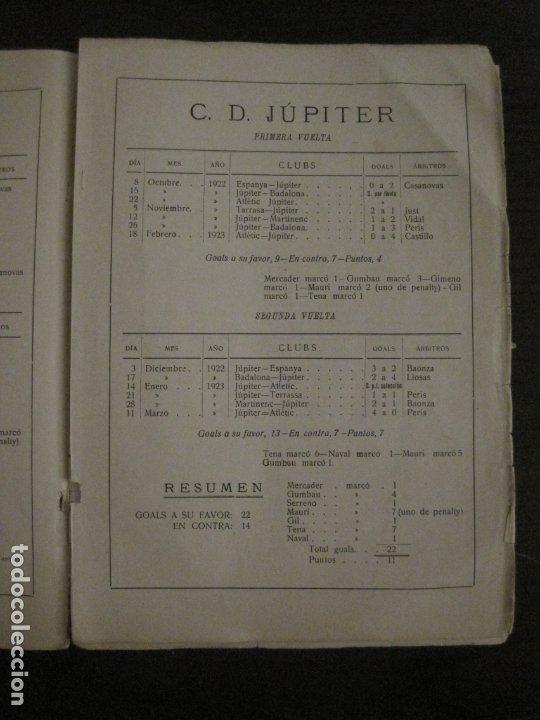 Coleccionismo deportivo: HISTORIA DEL CAMPEONATO DE FUTBOL DE CATALUÑA 1922 1923-CON FOTOGRAFIAS-VER FOTOS-(V-18.057) - Foto 27 - 182871472