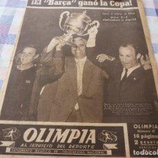 Coleccionismo deportivo: (LLL)-OLIMPIA Nº: 41(23-6-53)!!!BARÇA 3 AT.BILBAO 2 !!!CAMPEONES DE COPA Y EN PROPIEDAD!!!GRAN FOTO.. Lote 183086732