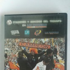 Coleccionismo deportivo: VALENCIA C.F.CAMPEÓN DE LA COPA DE LA LIGA Y DE LA UEFA 2003/2004. Lote 183177593
