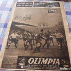 Coleccionismo deportivo: (LLL)-OLIMPIA Nº:6(21-10-52)BARÇA 3 RACING 1,VALLADOLID-ESPAÑOL,C.F.BADALONA,HARLEM GLOBE TROTTERS.. Lote 183191370