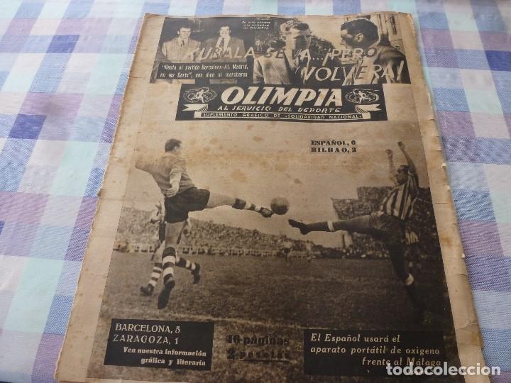 (LLL)-OLIMPIA Nº: 7(28-10-52)ZARAGOZA 1 BARÇA 5,BILBAO 6 ESPAÑOL 2,KUBALA Y DR.RECASENS. (Coleccionismo Deportivo - Revistas y Periódicos - otros Fútbol)