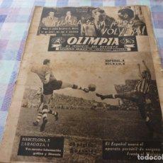 Coleccionismo deportivo: (LLL)-OLIMPIA Nº: 7(28-10-52)ZARAGOZA 1 BARÇA 5,BILBAO 6 ESPAÑOL 2,KUBALA Y DR.RECASENS.. Lote 183191656