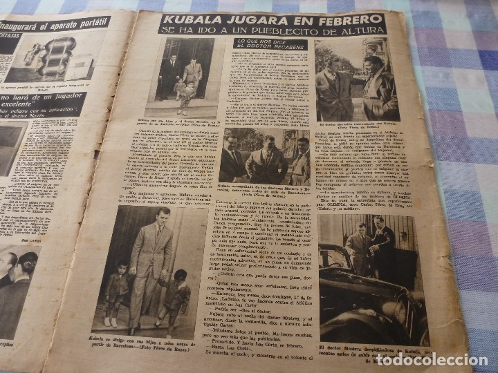 Coleccionismo deportivo: (LLL)-OLIMPIA Nº: 7(28-10-52)ZARAGOZA 1 BARÇA 5,BILBAO 6 ESPAÑOL 2,KUBALA Y DR.RECASENS. - Foto 2 - 183191656