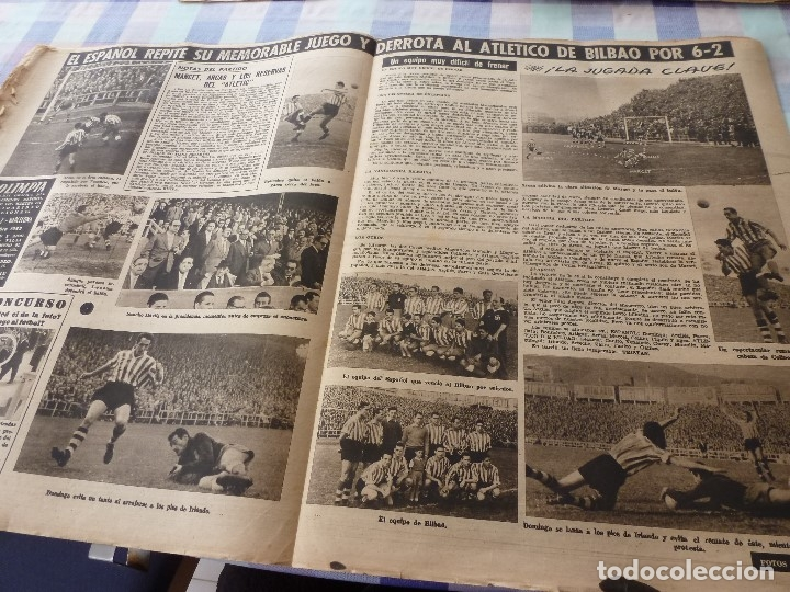 Coleccionismo deportivo: (LLL)-OLIMPIA Nº: 7(28-10-52)ZARAGOZA 1 BARÇA 5,BILBAO 6 ESPAÑOL 2,KUBALA Y DR.RECASENS. - Foto 5 - 183191656
