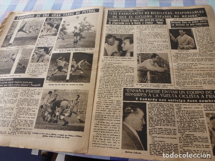 Coleccionismo deportivo: (LLL)-OLIMPIA Nº: 7(28-10-52)ZARAGOZA 1 BARÇA 5,BILBAO 6 ESPAÑOL 2,KUBALA Y DR.RECASENS. - Foto 6 - 183191656