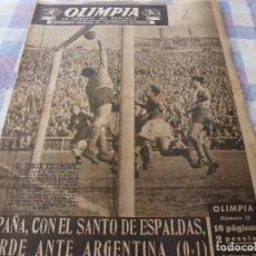 Coleccionismo deportivo: (LLL)-OLIMPIA Nº: 13(9-12-52)ESPAÑA 0 ARGENTINA 1,BARÇA CAPITULO 2,FIGURAS:BOSCH,ESPAÑA INDUSTRIAL. Lote 183199385