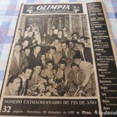 Coleccionismo deportivo: (LLL)-OLIMPIA Nº: 15(23-12-52)VALENCIA 3 BARÇA 2,ESPAÑOL-RACING,BARÇA CAPIT.4,FIGURA MARCEL DOMINGO. Lote 183199828