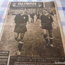 Colecionismo desportivo: (LLL)-OLIMPIA Nº: 16(30-12-52)ESPAÑA 2 ALEMANIA 2,BARÇA CAPITULO 5,FIGURA:MARIANO MARTIN,CLAUDIO RIU. Lote 208868540