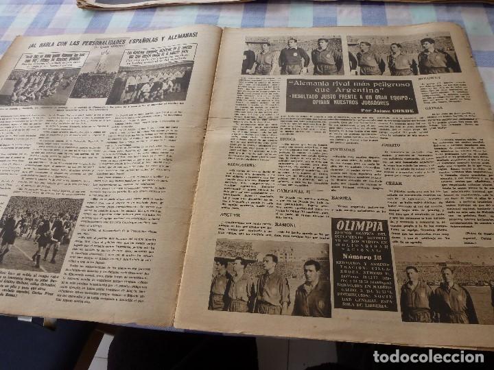 Coleccionismo deportivo: (LLL)-OLIMPIA Nº: 16(30-12-52)ESPAÑA 2 ALEMANIA 2,BARÇA CAPITULO 5,FIGURA:MARIANO MARTIN,CLAUDIO RIU - Foto 2 - 183200010