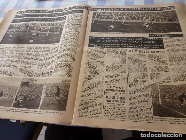 Coleccionismo deportivo: (LLL)-OLIMPIA Nº: 16(30-12-52)ESPAÑA 2 ALEMANIA 2,BARÇA CAPITULO 5,FIGURA:MARIANO MARTIN,CLAUDIO RIU - Foto 3 - 183200010
