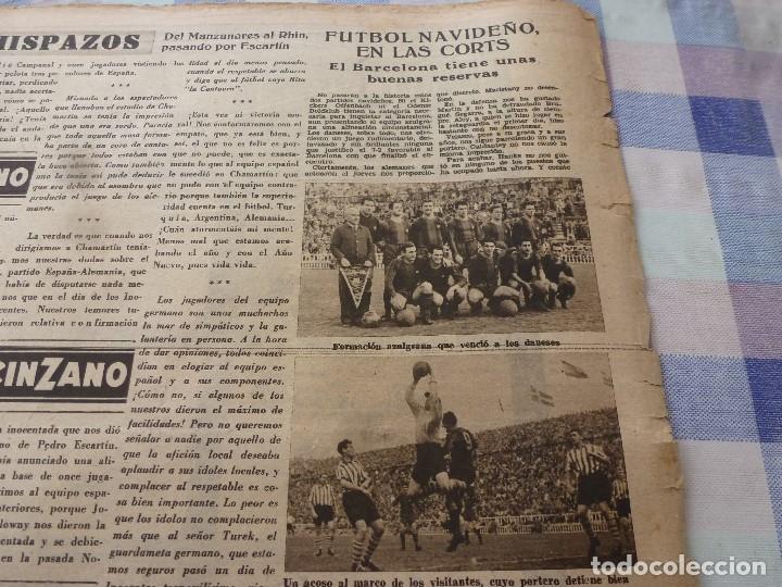 Coleccionismo deportivo: (LLL)-OLIMPIA Nº: 16(30-12-52)ESPAÑA 2 ALEMANIA 2,BARÇA CAPITULO 5,FIGURA:MARIANO MARTIN,CLAUDIO RIU - Foto 5 - 183200010