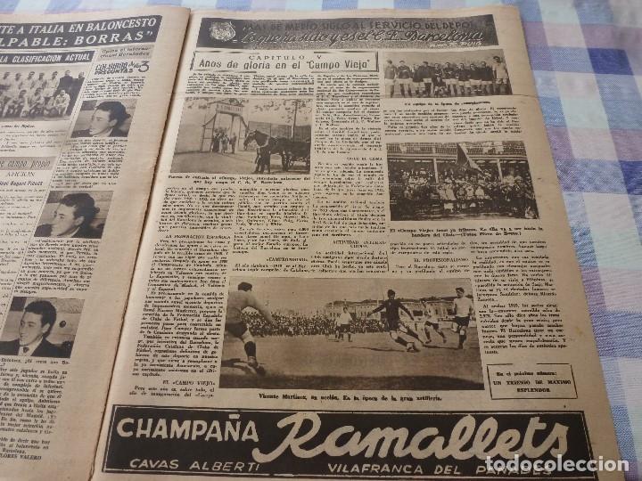 Coleccionismo deportivo: (LLL)-OLIMPIA Nº: 16(30-12-52)ESPAÑA 2 ALEMANIA 2,BARÇA CAPITULO 5,FIGURA:MARIANO MARTIN,CLAUDIO RIU - Foto 8 - 183200010