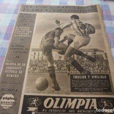 Coleccionismo deportivo: (LLL)-OLIMPIA Nº: 33(28-4-53)VALLADOLID 0 BARÇA 1,LUIS ROMERO(BOXEO)FIGURA: SANCHO. Lote 183234141