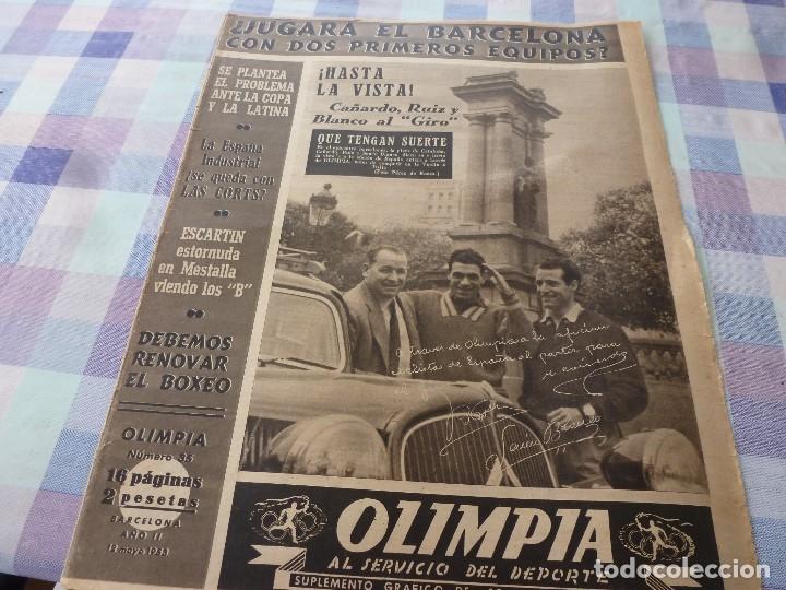 (LLL)-OLIMPIA Nº: 35(12-5-53)BODAS ORO R.C.D.ESPAÑOL CAP.2,JUDIT SANTANA MUJER FUTBOLISTA. (Coleccionismo Deportivo - Revistas y Periódicos - otros Fútbol)