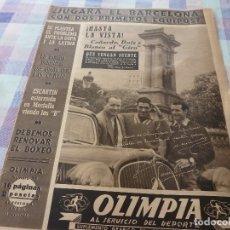 Coleccionismo deportivo: (LLL)-OLIMPIA Nº: 35(12-5-53)BODAS ORO R.C.D.ESPAÑOL CAP.2,JUDIT SANTANA MUJER FUTBOLISTA.. Lote 183234473