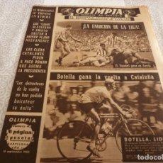 Coleccionismo deportivo: (LLL)-OLIMPIA Nº:49(15-9-53)BODAS ORO ESPAÑOL CAP.15,CASO DI STEFANO,1º RALLYE CALDETAS,VESPA. Lote 183273437