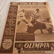 Coleccionismo deportivo: (LLL)-OLIMPIA Nº:53(13-10-53)BODAS ORO ESPAÑOL CAP.19,SABADELL 3 CULTURAL LEONESA 2,SALON AUTOMOVIL . Lote 183278175