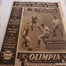 Coleccionismo deportivo: (LLL)-OLIMPIA Nº:61(8-12-53)SEVILLA 3 ESPAÑOL 1,BARÇA 6 DEPOR 1,KUBALA.. Lote 183299395