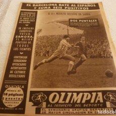 Coleccionismo deportivo: (LLL)-OLIMPIA Nº:63(22-12-53)RICARDO ZAMORA,ESPAÑOL 0 BARÇA 1,EL C.F.AMPOSTA.. Lote 183302775