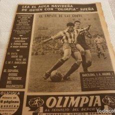 Coleccionismo deportivo: (LLL)-OLIMPIA Nº:64(29-12-53)BARÇA 1 AT.MADRID 1,R.MADRID 4 ESPAÑOL 3,. Lote 183304527