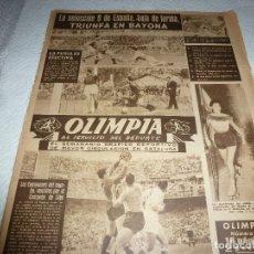 Coleccionismo deportivo: (LLL)-OLIMPIA Nº:86(1-6-54)R.MADRID 2 URUGUAY 0,HUNGRIA 7 INGLATERRA 1,KUBALA OPERADO,BLUME. Lote 183325805