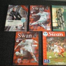 Coleccionismo deportivo: LOTE 5 PROGRAMAS SWANSEA CITY (VER RELACIÓN). Lote 183470438