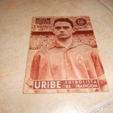 Coleccionismo deportivo: COLECCION IDOLOS DEL DEPORTE Nº 39 1959 URIBE DEL ATHLETIC DE BILBAO. Lote 183514570
