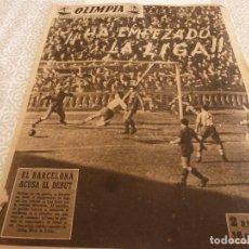 Coleccionismo deportivo: (LLL)OLIMPIA Nº: 1(16-9-52)BARÇA 4 DEPOR 3,LUIS ROMERO(BOXEO)BEN BAREK(AT.MADRID)POBLET(CICLISMO). Lote 183538891