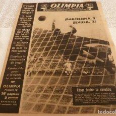 Coleccionismo deportivo: (LLL)OLIMPIA Nº: 10(18-11-52)FIGURA:ESCOLÁ,ESQUÍ,MÁLAGA 1 ESPAÑOL 1,BARÇA 3 SEVILLA 2. Lote 183539060