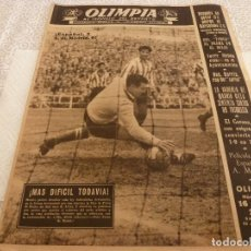 Coleccionismo deportivo: (LLL)OLIMPIA Nº: 11(25-11-52)ESPAÑOL 2 AT.MADRID 0,R.MADRID 2 BARÇA 1.. Lote 183539163