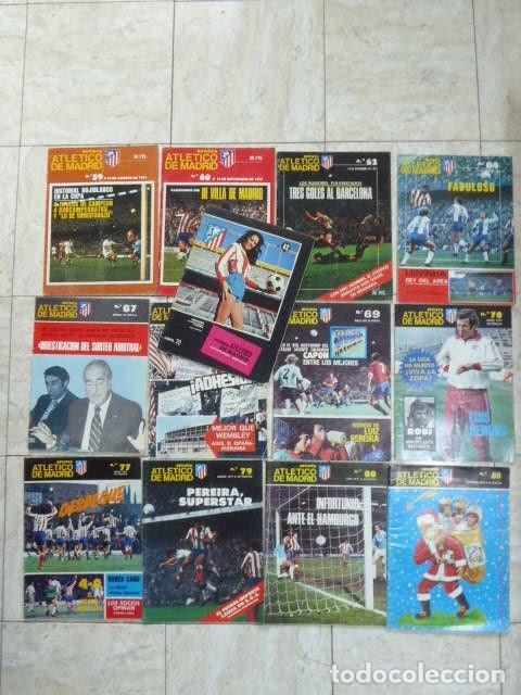 LOTE DE 13 REVISTAS DEL ATLETICO DE MADRID. AÑOS 70. LAS DE LAS FOTOS. (Coleccionismo Deportivo - Revistas y Periódicos - otros Fútbol)