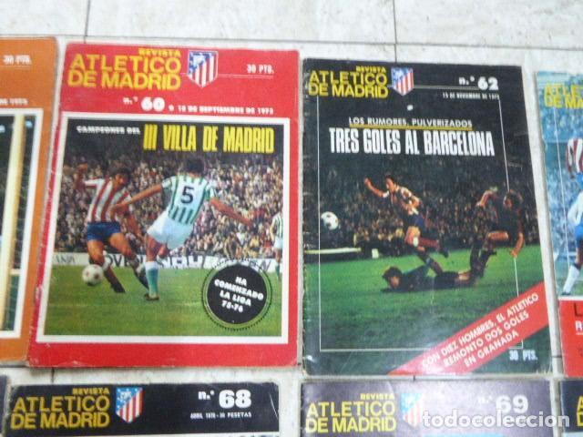 Coleccionismo deportivo: LOTE DE 13 REVISTAS DEL ATLETICO DE MADRID. AÑOS 70. LAS DE LAS FOTOS. - Foto 5 - 183541252