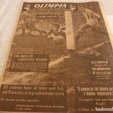 Coleccionismo deportivo: (LLL)OLIMPIA Nº: 17(6-1-53)BARÇA CAPIT.6,FIGURA:RAMALLETS,BARÇA 2 VALLADOLID 1,ZARAGOZA-ESPAÑOL. Lote 183542623