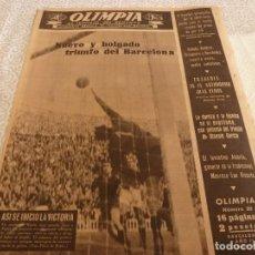 Coleccionismo deportivo: (LLL)OLIMPIA Nº: 20(27-1-53)BARÇA CAPIT.9,FIGURA:BASORA,HERNANDEZ(BASKET)BARÇA Y ESPAÑOL. Lote 183542906