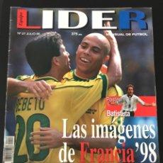 Coleccionismo deportivo: FÚTBOL EQUIPO LÍDER 27 - ESPECIAL MUNDIAL FRANCIA 98 - PÓSTER BATISTUTA - AS DON BALÓN MARCA SPORT. Lote 183547860