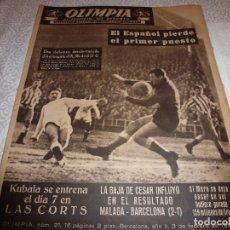 Coleccionismo deportivo: (LLL)OLIMPIA Nº: 21(3-2-53)BARÇA CAPIT.10,FIGURA:TERUEL,ESPAÑOL 2 R.MADRID 4,MALAGA 2 BARÇA 1. Lote 183551098
