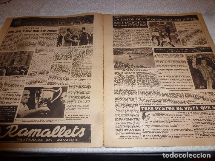 Coleccionismo deportivo: (LLL)OLIMPIA Nº: 21(3-2-53)BARÇA CAPIT.10,FIGURA:TERUEL,ESPAÑOL 2 R.MADRID 4,MALAGA 2 BARÇA 1 - Foto 2 - 183551098